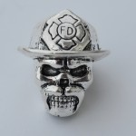 Firefighter Paracord Lanyard Skull Bead for Knives