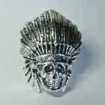 chief warrior paracord skull bead