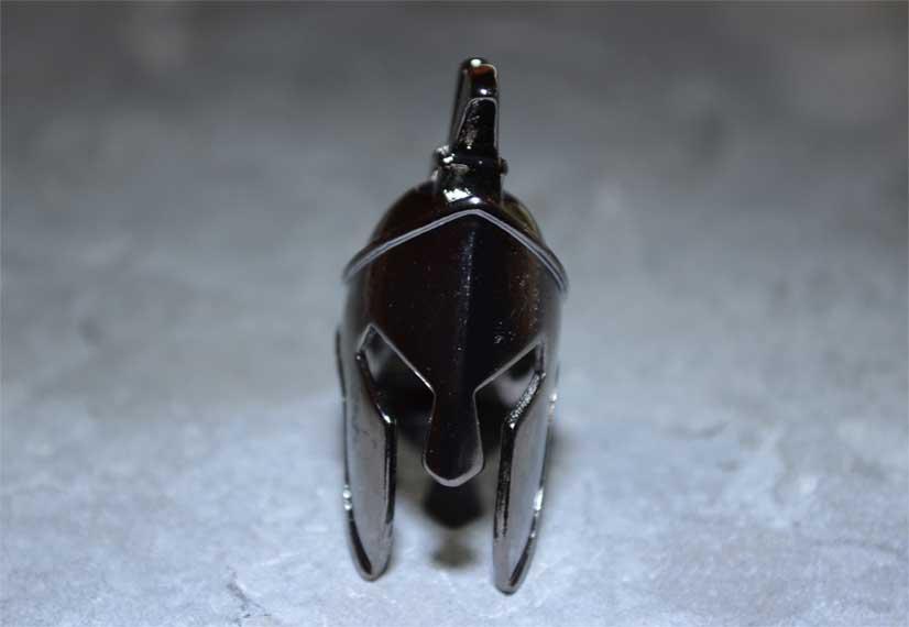 spartan helmet paracord bead gun metal black